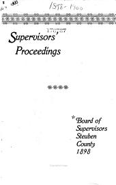 Annual Proceedings of the Board of Supervisors of the County of Steuben