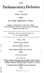The Parliamentary Debates From The Year 1803 To The Present Time 06 Book PDF