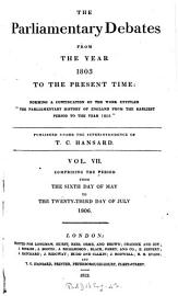 The Parliamentary Debates From The Year 1803 To The Present Time   06