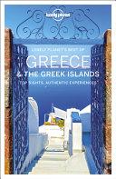 Lonely Planet Best of Greece   the Greek Islands