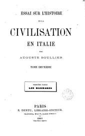 Essai sur l'histoire de la civilisation en Italie, 2