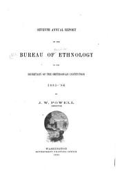 The Sacred Formulas of the Cherokees: Volume 7