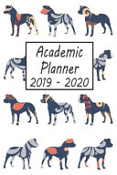 Academic Planner 2019 - 2020: Pitbull Dog Weekly and Monthly Planner, Academic Year July 2019 - June 2020: 12 Month Agenda - Calendar, Organizer, No