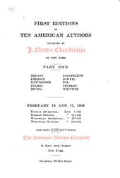 First editions of ... American authors