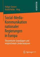 Social Media Kommunikation nationaler Regierungen in Europa PDF