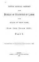 Annual Report of the Bureau of Labor Statistics of the State of New York for the Year     PDF