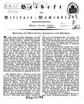 Militär-Wochenblatt: unabhängige Zeitschr. für d. dt. Wehrmacht. 1843, Okt. - Nov./Dez