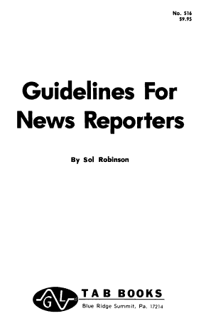 Guidelines for News Reporters PDF