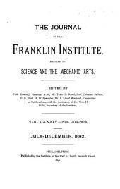 Journal of the Franklin Institute: Volume 134