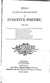 Bell's Classical Arrangement of Fugitive Poetry: Volumes 9-10