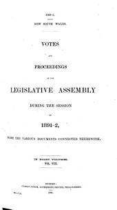 Votes & Proceedings: Volume 8
