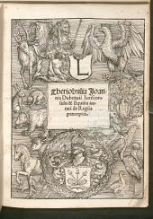 Theriobulia Joannis Dubrauii Iurisconsulti & Equitis aurati de Regiis praeceptis