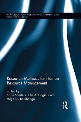 Research Methods for Human Resource Management PDF