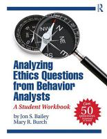Analyzing Ethics Questions from Behavior Analysts PDF