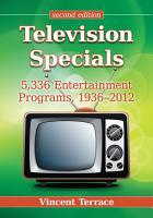 Television Specials PDF