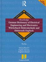Langenscheidt Routledge German Dictionary of Electrical Engineering and Electronics PDF