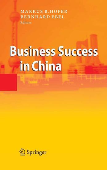 Business Success in China PDF