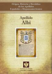 Apellido Albi: Origen, Historia y heráldica de los Apellidos Españoles e Hispanoamericanos
