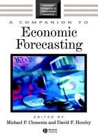 A Companion to Economic Forecasting PDF
