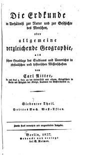 Die Erdkunde im Verhältniss zur Natur und zur Geschichte des Menschen: -19. Th., 3. Buch. West-Asien. 1837-1859