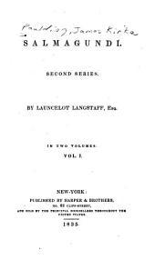 Salmagundi: Second Series, Volume 1