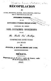 Recopilacion de leyes, decretos, bandos, reglamentos, circulares y providencias: de los supremos poderes y otras autoridades de la Republica Mexicana, Parte 3