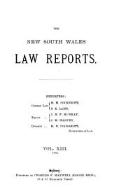 The New South Wales Law Reports: Volume 13