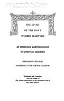 The Lives of the Holy Women Martyrs PDF