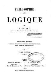 Philosophie: logique, Volume2