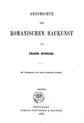 Geschichte der baukunst: bd. Geschichte der romanischen baukunst