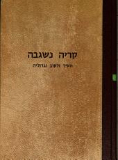 Ḳiryah niʹsgavah: hi ha-ʻir Zolḳoṿa, rabanehah, geʾonehah, ḥakhamehah, parnasehah u-manhigehah, shemot ha-sefarim asher ḥubru ...