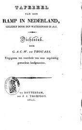Tafereel van den ramp in Nederland, geleden door den watersnood in 1825: dichtstuk