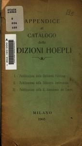 Appendice al catalogo delle edizioni Hoepli