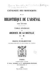 Catalogue des manuscrits de la Bibliothèque de l'Arsenal: Volume10