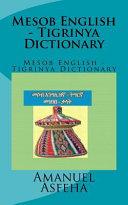 Mesob English   Tigrinya Dictionary PDF