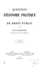 Questions d'économie politique et de droit public: Volume1