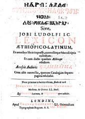 Lexicon Aethiopico-Latinum