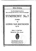 Symphony no. 7, A major, op. 92
