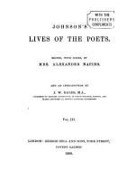 Lives of the Poets PDF