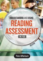 Understanding and Using Reading Assessment  K   12  3rd Edition PDF