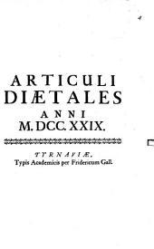 Articuli Diaetales Anni MDCC.XXIX.