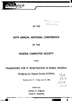 Conference Proceedings of the 20th Annual National Conference of the Nigeria Computer Society PDF