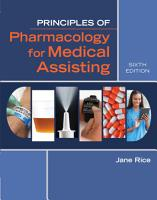 Principles of Pharmacology for Medical Assisting PDF