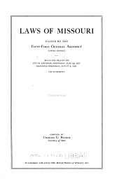 Laws of Missouri Passed at the General Assembly
