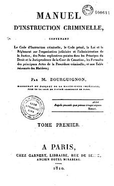 Manuel d instruction criminelle PDF