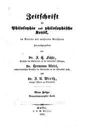 Zeitschrift für philosophie und philosophische Kritik: vormals Fichte-Ulricische Zeitschrift, Bände 29-30