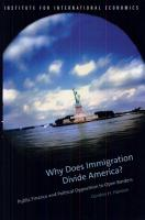 Why Does Immigration Divide America  PDF