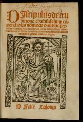 Liber discipuli de eruditione Christi fidelium