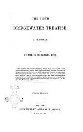 The Ninth Bridgewater Treatise a Fragment by Charles Babbage