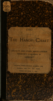 The Handy Chart of Casualty, Surety and Other Miscellaneous Insurance Companies in America: Showing Their Financial Standing and Business for the Ten Years Ending December 31, 1899